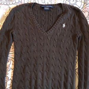 Brown and White Ralph Lauren sweater